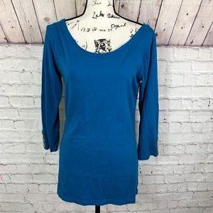 Matilda Jane Boat neck shirt with 3/4 sleeves